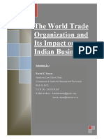 The World Trade Organization and Its Impact on Indian Businesses