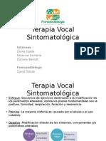 Terapia Vocal Sintomatológica