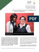 Un partenariat gagnant pour La Passerelle-I.D.É et le PAD pour les familles francophones