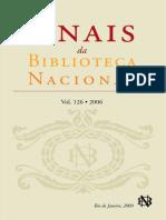 Anais da Biblioteca Nacinal