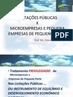 11-Licitacoes Publicas x Micro Empresas e Pequenas Empresas de Pequeno Porte - Delano Camara