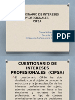Cuestionario de Intereses Profesionales (Cipsa)