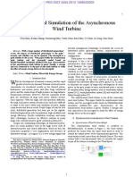 Modeling and Simulation of the Asynchronous W Ind T Urbine