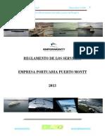 Reglamento de Servicios Empresa Portuaria