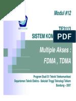 Modul 12 Siskom2 Multiple Access