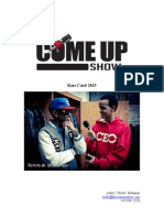 The Come Up Show Rate Card 2015