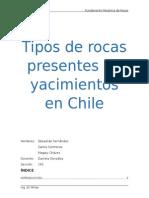 Tipos de Rocas Presentes en Yacimientos en Chile