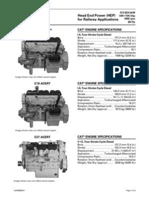 C15, C18 and C27 Engines LEHR8068-01 | Diesel Engine | Engines