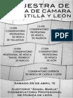 III MUESTRA DE MÚSICA DE CÁMARA DE CASTILLA Y LEÓN - SÁBADO 25 DE ABRIL´15 - LEÓN