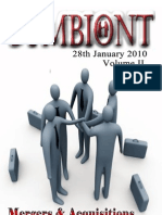 Symbiont - A Newsletter on Mergers & Acquisitions - January 2010