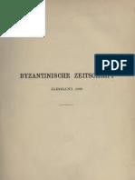 Byzantinische Zeitschrift Jahrgang 8 (1899)