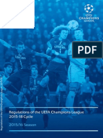 UEFA Champions League 2015 2018 Regulations
