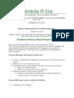 lambda pi eta assessment 2014