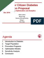 US Senior Citizen Diabetes Prevention Proposal