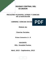 Módulo de Ciencias Sociales 2015.