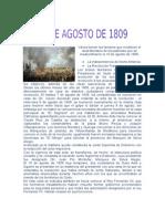 10 DE AGOSO DE 1809