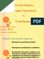 Drogas, Fluidos y Transfusiones