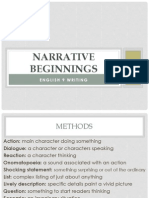 narrative beginnings with answers