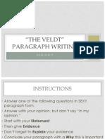 the veldt paragraph writing