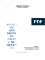 PRINCIOS QUE RIGEN  EL ESTADO DE  DERECHO.