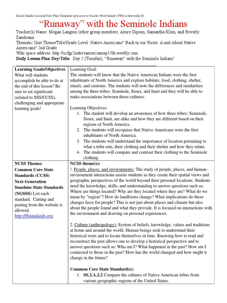 Unit Plan 2 Educational Assessment Lesson Plan
