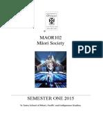 MAOR102 Course Outline 1-15