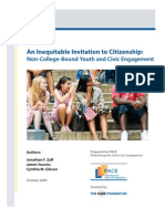 PACE Report_ an Inequitable Invitation to Citizenship_Non-College-Bound Youth and Civic Engagement