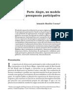 Porto Alegre, Un Modelo de Presupuesto Participativo