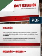 Inclusion y Extension