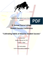 2014 Student Success Conference Program