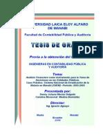 Análisis Financiero Como Instrumento Para La Toma de Decisiones en Las Entidades Pùblicas. Caso p