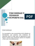 Viscosidad y Tension Superficial