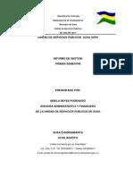 Informe de Gestion Servicios Publico
