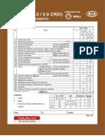 Cartilla de mantenimiento Frontier 2.5 2.9 CRDI
