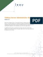 Tableau Server Admin6.0