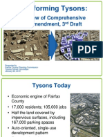 Transforming Tysons-- Overview (3rd Draft Plan) for Planning Commission,