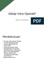 Askep Intra Operatif