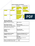 pdplc meeting minutes and agenda