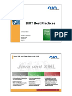 BIRT Best Practices Actuats Day