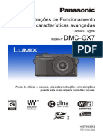Manual câmera GX7 Panasonic - Português