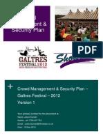 Crowd Management Plan