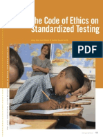 The Code of Ethics on Standardized Testing