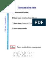 Cal Num Sistemas de Ecucaciones Lineales Pres4
