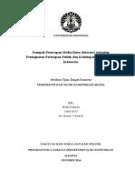 Dampak Penerapan Media Baru (Internet) terhadap Peningkatan Partisipasi Politik dan Kehidupan Demokrasi di Indonesia