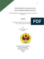 CSR Terhadap Kinerja Keuangan