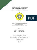 Cover Laporan Kerja Praktek