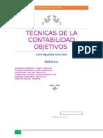 TECNICAS DE LA CONTABILIDAD