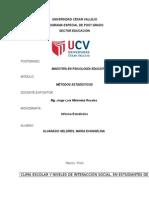 Universidad César Vallejo Informe Estadistico