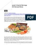 Growth Indonesia's Food & Bverage Industry in 2015
