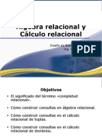 Algebra y Calculo Relacional